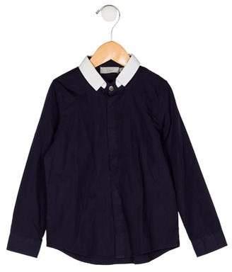 Christian Dior Boys' Collar Button-Up Shirt