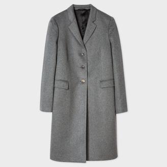 Women's Grey Wool-Cashmere Epsom Coat $950 thestylecure.com