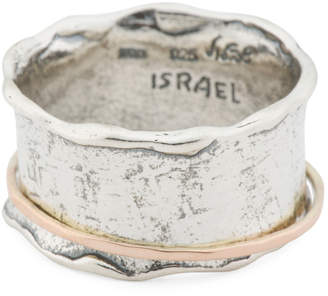 Made In Israel 14k Gold And Sterling Silver Spinner Ring