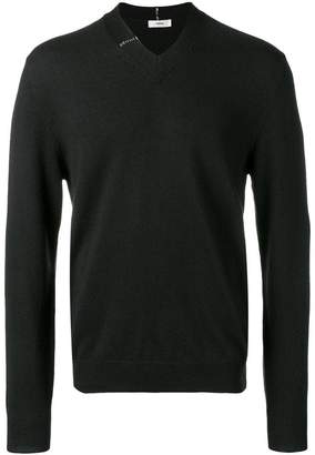 Mauro Grifoni V neck detail sweater