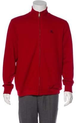 Burberry Equestrian Knight Device Half-Zip Sweater