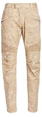 Balmain Men's Tapered Camouflage Pants