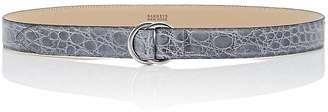 Barneys New York MEN'S DOUBLE-RING CROCODILE LEATHER BELT