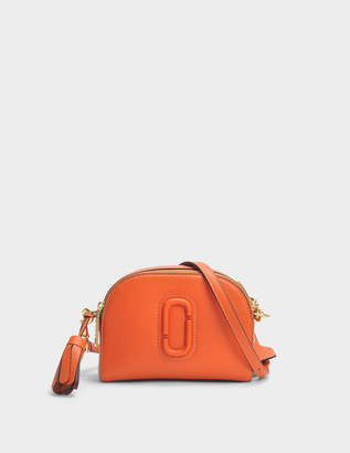 Marc Jacobs Shutter Crossbody Bag in Orange Cow Leather