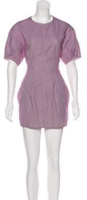 Celine Gingham Mini Dress