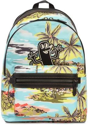 Keith Haring Printed Nylon Backpack
