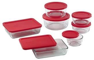 Williams-Sonoma Williams Sonoma Pyrex 14-Piece Storage Set with Red Lids