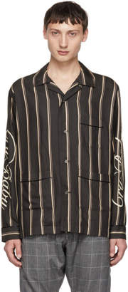 Christian Dada Navy and Beige Cry Baby Striped Shirt