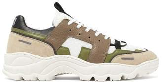 Ami Running Lucky 9 Low Top Trainers - Mens - Green Multi