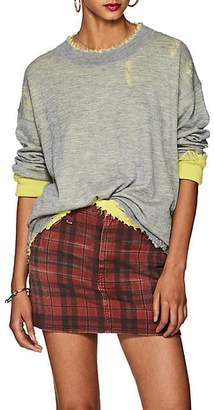 R 13 Women's Distressed Cashmere Reversible Sweater