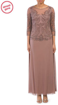 Pisarro Nights Beaded Top Gown