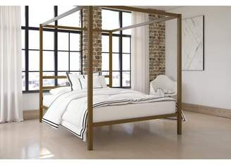 DHP Oakes Modern Canopy Sturdy Metal Bed Frame, Multiple Sizes