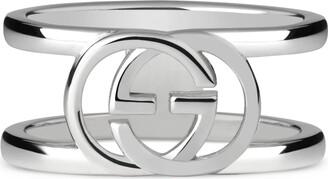 Gucci Wide ring with interlocking G motif
