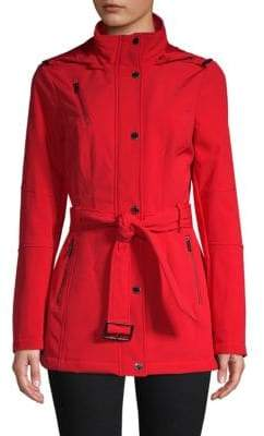 MICHAEL Michael Kors Snap-Front Hooded Coat