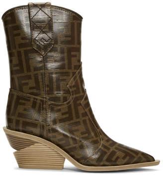 Fendi Multicolor Forever Cowboy Boots