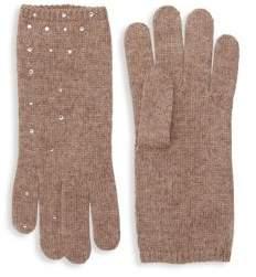 Portolano Embellished Wool-Blend Gloves