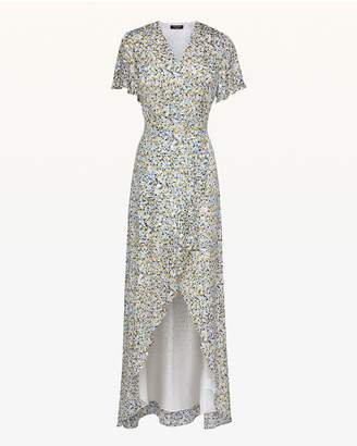 Juicy Couture Ditsy Burnout Chiffon Maxi Dress