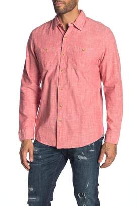 Grayers Solid Chambray Modern Fit Shirt