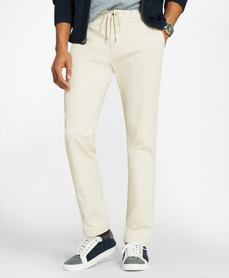 Brooks Brothers Cotton Twill Stretch Joggers