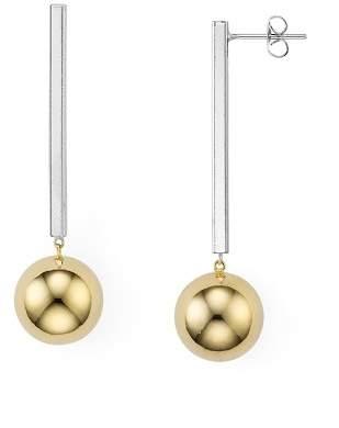Argentovivo Two-Tone Linear Earrings