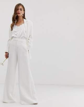 Asos Edition EDITION wide leg wedding pants