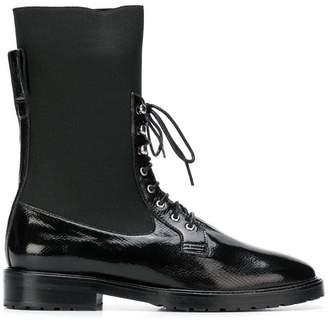Leandra Medine mid-calf lace-up boots