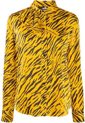 Love Moschino all over logo print blouse