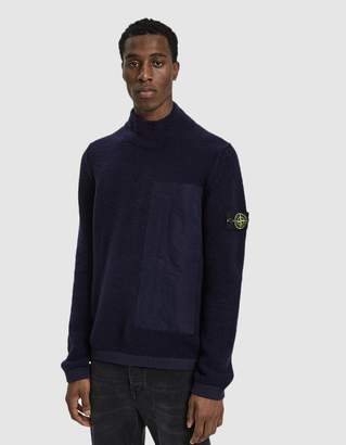 Stone Island Brushed Mockneck Sweater in Ink
