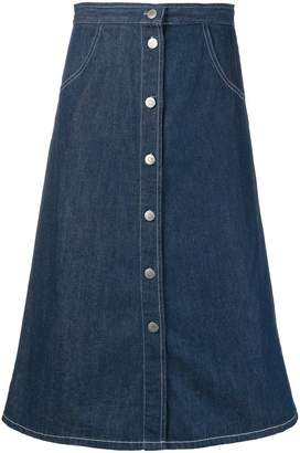 MiH Jeans front button denim skirt