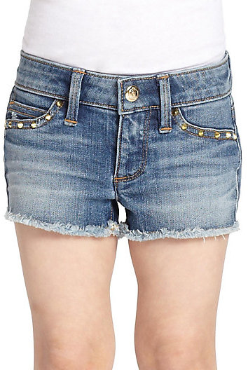 Juicy Couture Toddler's & Little Girl's Studded Cut-Off Denim Shorts