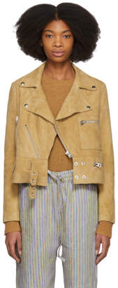 Acne Studios Brown Suede Suokki Jacket