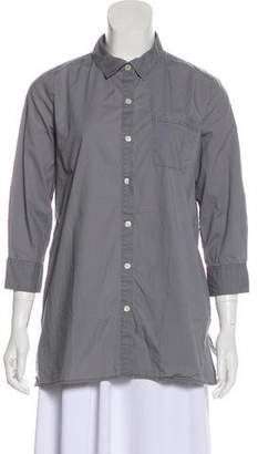 DKNY Long Sleeve Button-Up Top