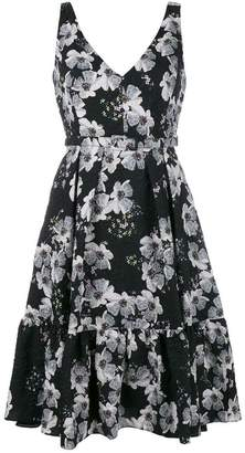 Erdem embossed flared dress