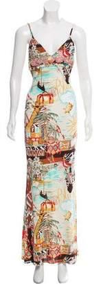 Blumarine Printed Maxi Dress w/ Tags