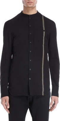Masnada Band Collar Shirt