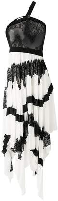 Givenchy long pleated asymmetric dress