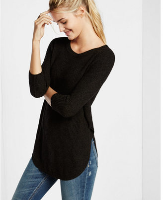 Express shaker knit circle hem sweater $59.90 thestylecure.com