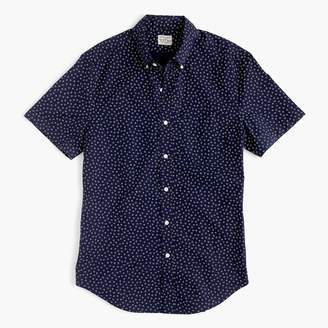 J.Crew Stretch short-sleeve Secret Wash shirt in daisy print