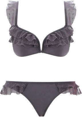 Zimmermann Laelia Shoulder Frill Bikini
