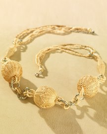 Straw-Bead Necklace