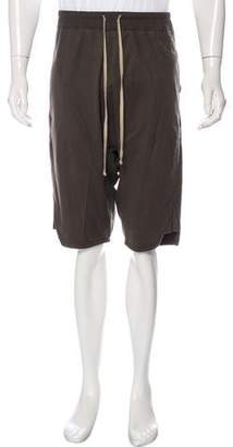 Rick Owens Virgin Wool & Cashmere-Blend Drop Crotch Pod Shorts