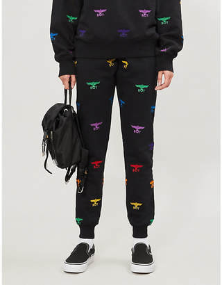 Boy London Logo-embroidered cotton-jersey jogging bottoms