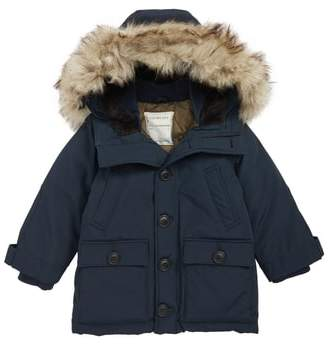 J.Crew crewcuts by Primaloft(R) Insulated Fishtail Parka with Faux Fur Trim