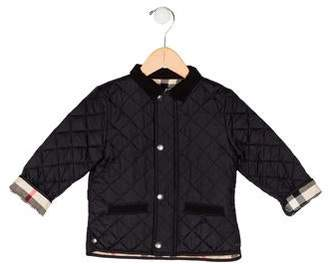 Burberry Girls' Quilted Collar Jacket