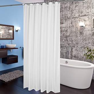Aoohome White Fabric Shower Curtain Liner