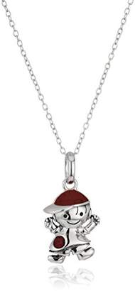Hallmark Jewelry January Birthstone Sterling Crystal Boy Pendant Necklace