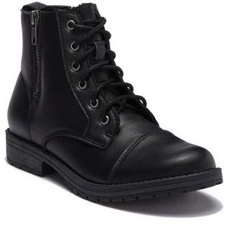 Madden-Girl Milooh Faux Leather Combat Boot