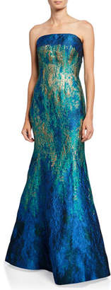 Rene Ruiz Collection Strapless Ombre Bustier Mermaid Gown