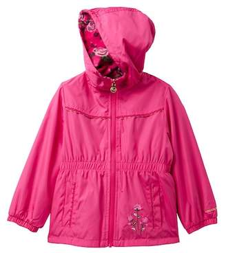 London Fog Anorak Reversible Floral Fleece Jacket (Little Girls)