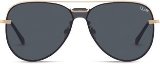 Quay Notorious 56mm Aviator Sunglasses